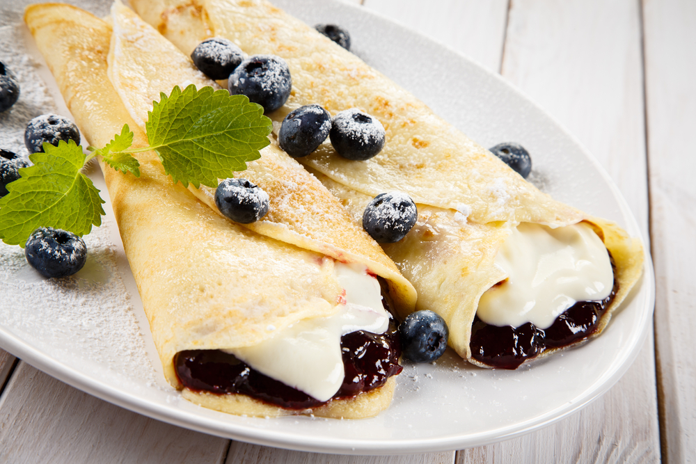 Crepes ai mirtilli